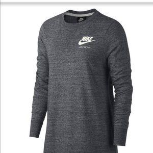 Nike dark gray long sleeve dress